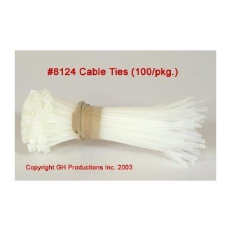 "Cable Ties 4"" length - 100 per pkg."