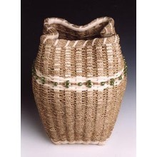 Sculptural Seagrass Basket Pattern