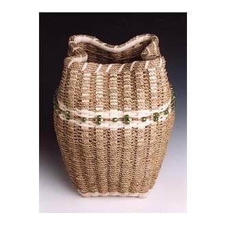 Sculptural Seagrass Basket Pattern