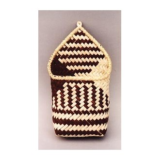 Diagonally Plaited Wall Pouch Basket Pattern