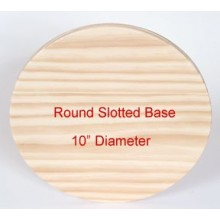 Best Quality-Slotted Wooden Base 10 inch Round