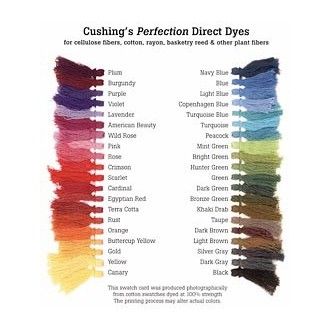 Color Chart for Cushings Dyes