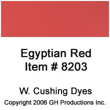 Egyptian Red Dye W. Cushing Co.