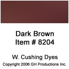 Dark Brown Dye W. Cushing Co.
