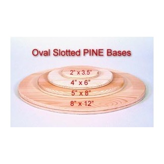 Oval 4 inch x 6 inch Slotted Base