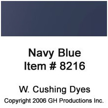 Navy Blue Dye W. Cushing Co.