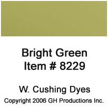Bright Green Dye W Cushing Co.