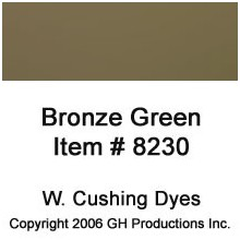 Bronze Green Dye W. Cushing Co.