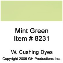 Mint Green Dye W. Cushing Co.