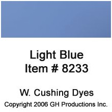 Light Blue Dye W. Cushing Co.