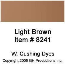 Light Brown Dye W. Cushing Co.