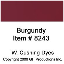 Burgundy Dye W. Cushing Co.