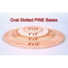 Oval 8 inch x 12 inch Slotted Base