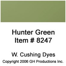 Hunter Green Dye W. Cushing Co.