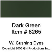 Dark Green Dye W Cushing Co