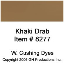 Khaki Drab Dye W Cushing Co