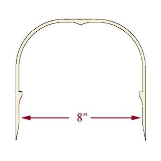 8 inch Ash Heart Handle