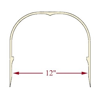 12 inch Ash Heart Handle