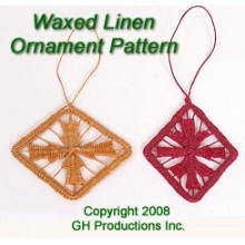 Waxed Linen Ornament Basket -- Pattern Sheet
