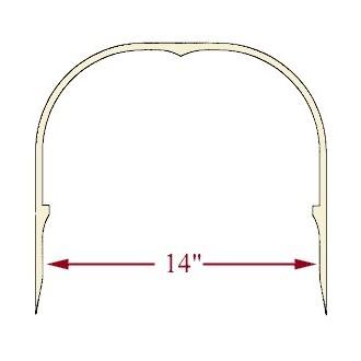 14 inch Ash Heart Handle