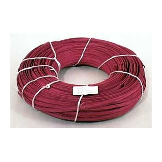 "1 lb. - 1/4"" Flat Burgundy DYED--1 lb. bundle"
