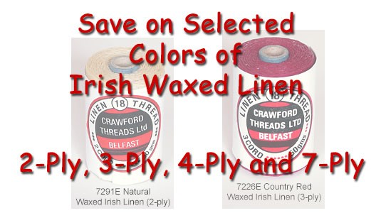 Save on waxed Linen