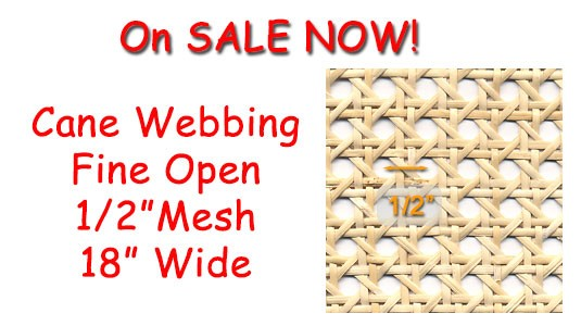 Save on 18 inch wide 1/2 inch Mesh Webbing