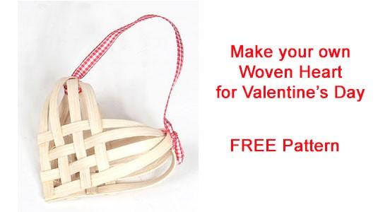 Free Woven Heart Pattern