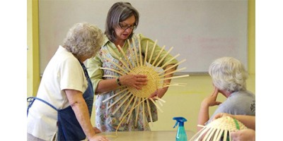 Woven wonder: Hester shares basket-making expertise